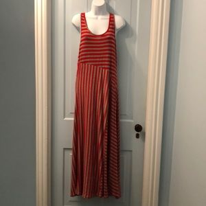 Red and gray striped maxi size 1X by Magic